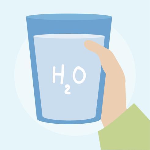 Abbildung eines Glases Wassers