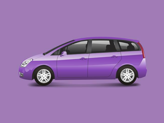 Vetor de automóvel monovolume roxo MPV