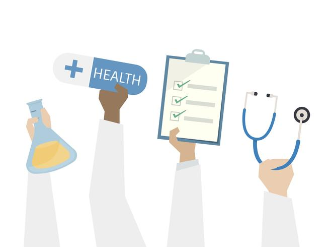 Illustration of health and medical care