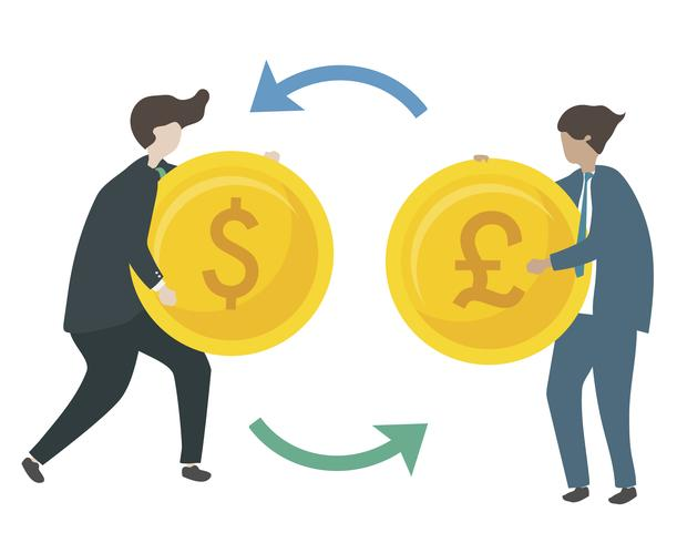 Abbildung der Zeichen, die Währung austauschen