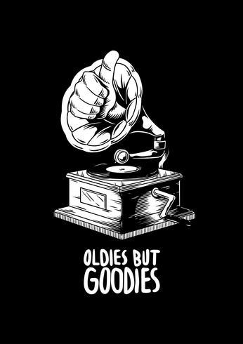 Oldies but goodies music creative illustration