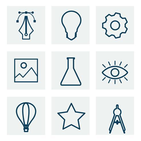 Colección de gráficos de iconos de negocios
