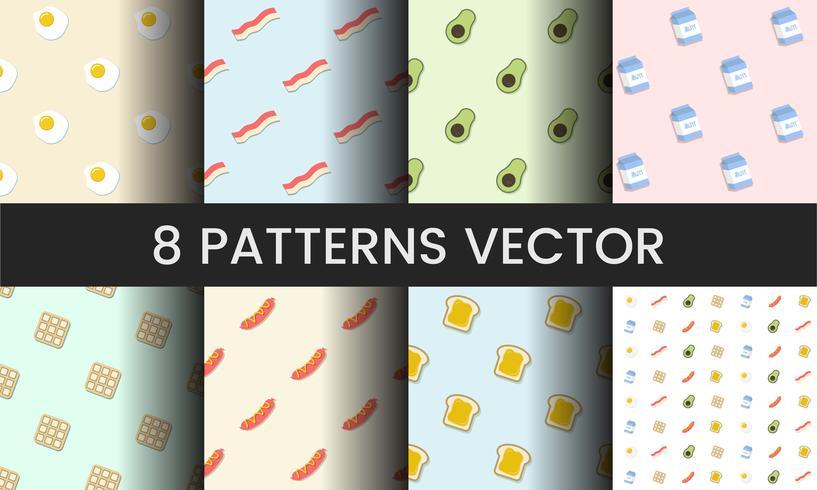 Samling av mönster vektorer illustration