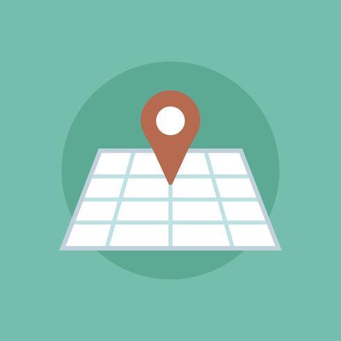 Vektor av pinned map icon