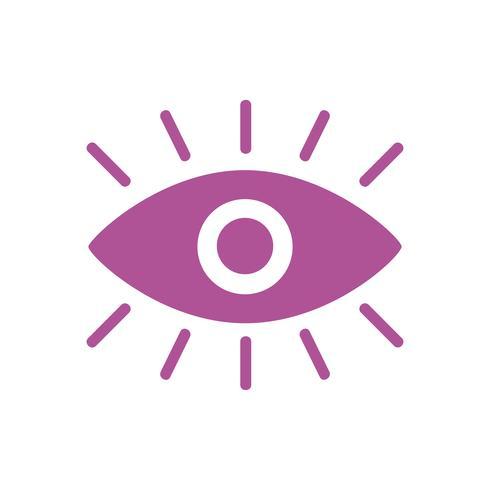 En grafisk ikon med rosa ögon