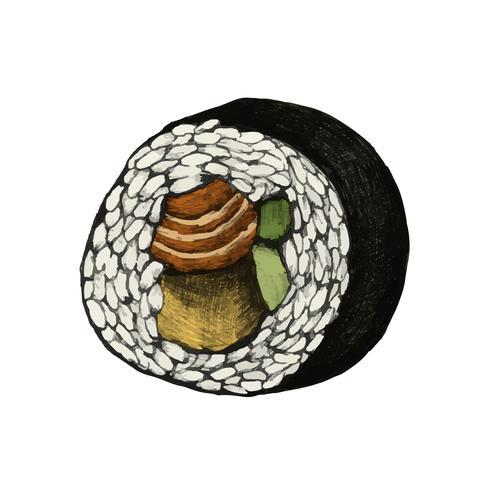 Ilustración de la comida japonesa
