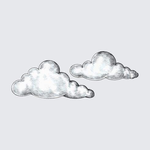Ilustración de nubes dibujadas a mano