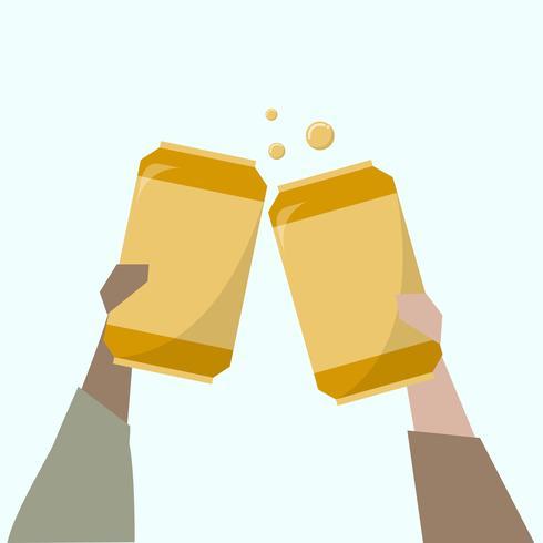 Ilustración de personas que toman cervezas