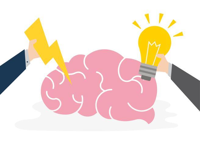 Illustration av kreativa idéer koncept