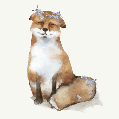 Ilustración de un bebé zorro