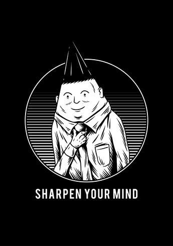 Skärpa ditt sinne kreativa illustration
