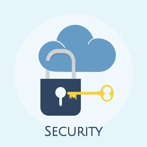 Illustrazione del concetto di sicurezza cloud