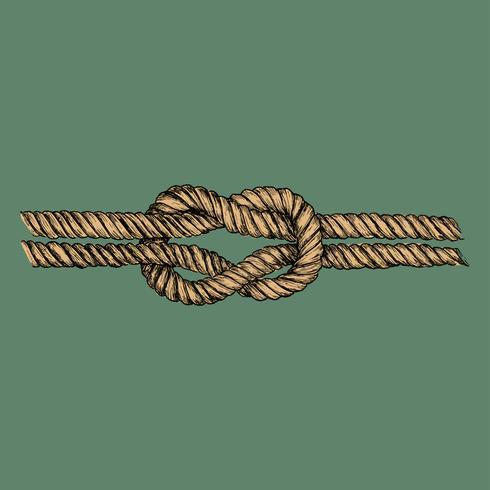 Hand gezeichneter quadratischer Knoten