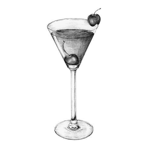 Bebida coctel a mano