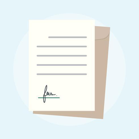 Illustratie van bedrijfsovereenkomstconcept