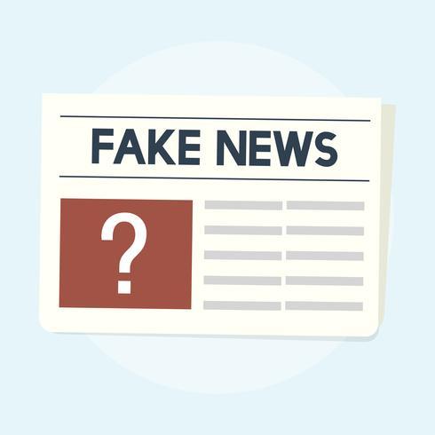 Illustration av falska nyhetskoncept