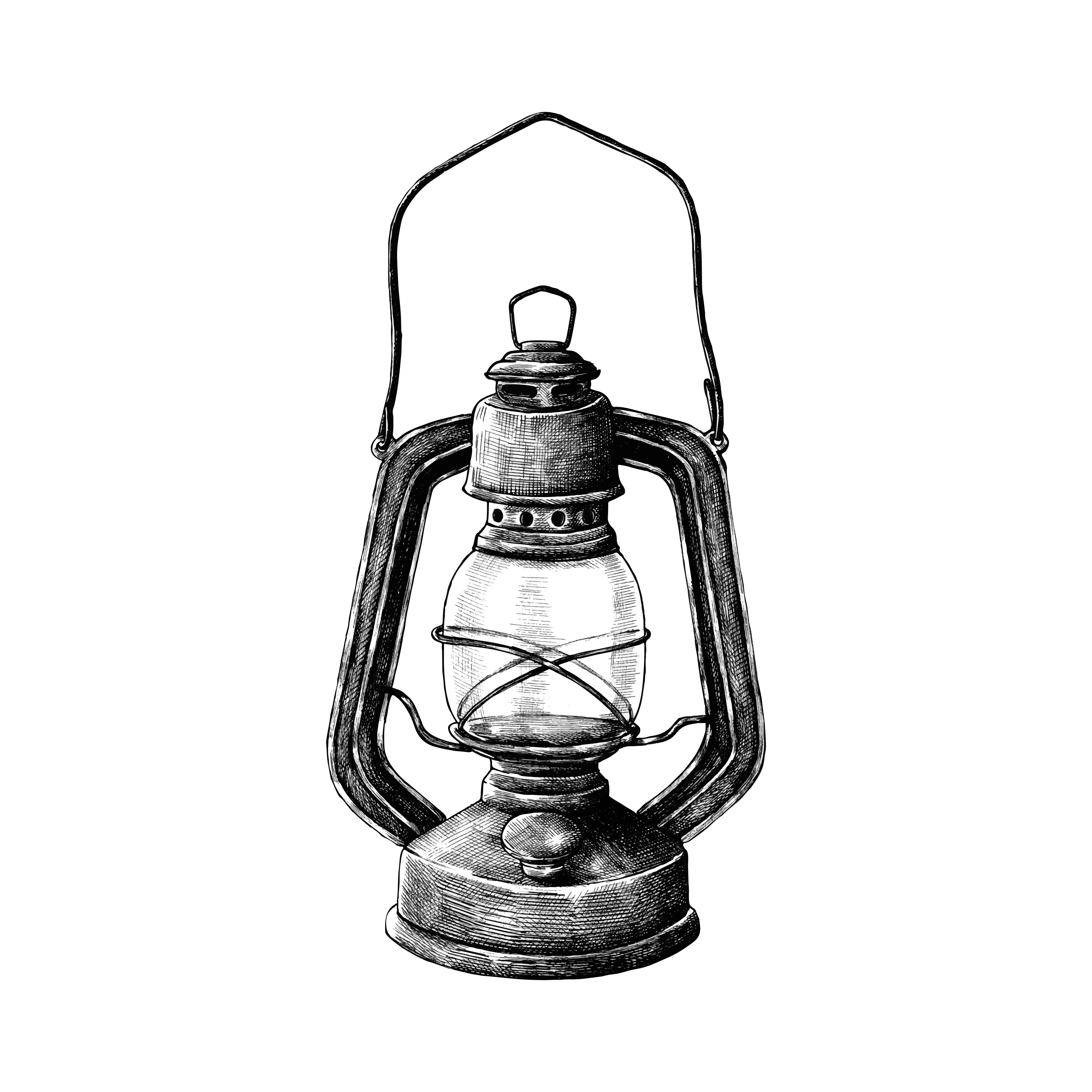 Hand Drawn Retro Lantern Download Free Vector Art Stock