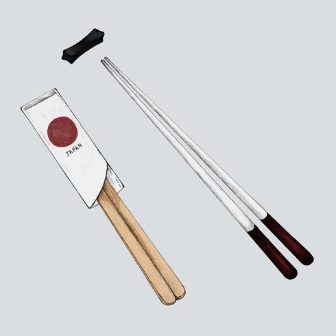 Ilustración de palillos