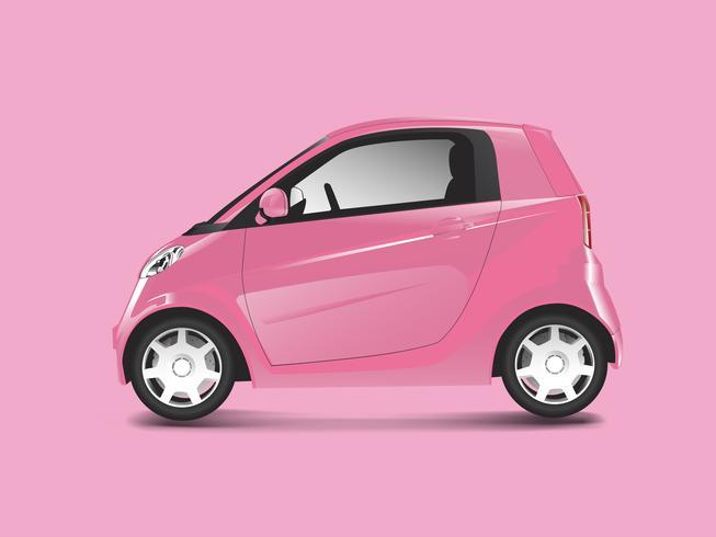 Rosa kompakter Hybridautovektor