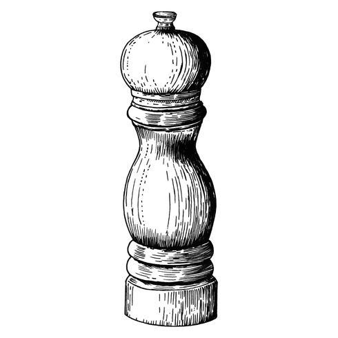 Macinapepe disegnato a mano