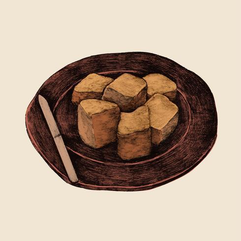 Illustratie van Japans eten