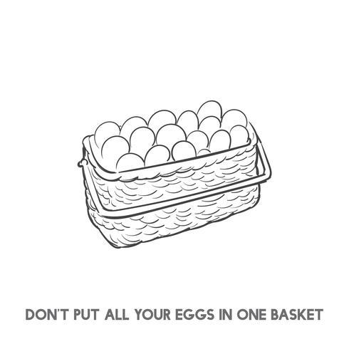 No pongas todos los huevos en una canasta