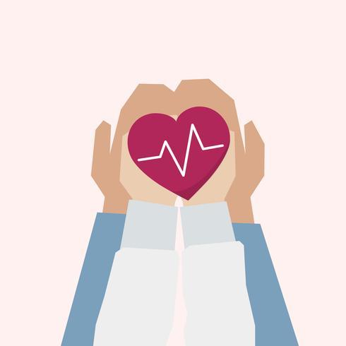 Ilustración del concepto de apoyo a la salud