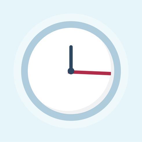 Ilustração, de, um, relógio
