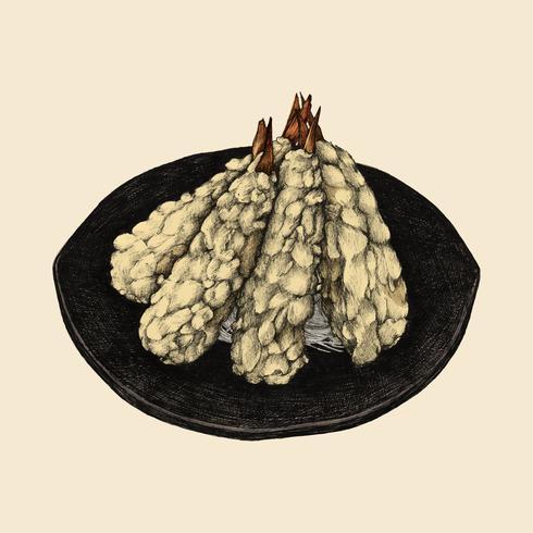 Illustratie van Japanse peulvruchtschotel