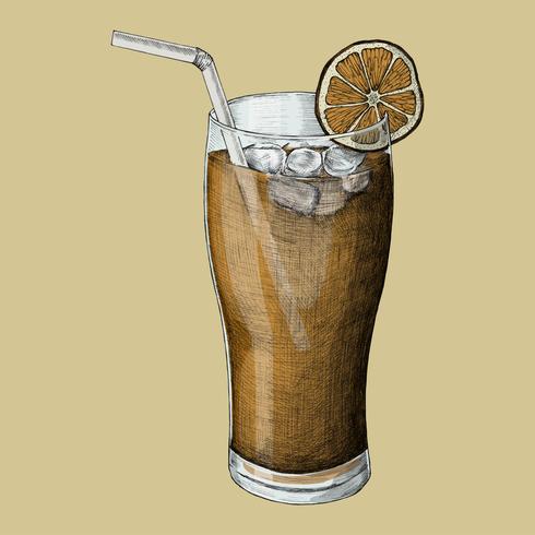 Ilustração, de, um, chá gelado