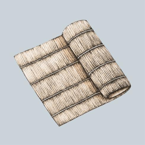 Ilustración de la placa de bambú