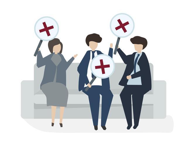Illustration des Leuteavatarageschäftsvereinbarungskonzeptes