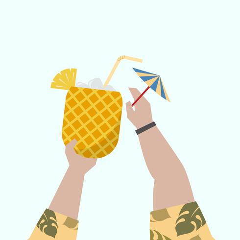 Illustratie van een fruitige cocktail