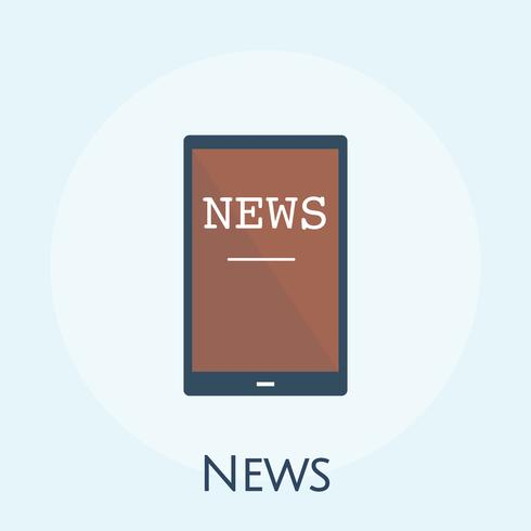 Illustrazione del concetto di notizie online