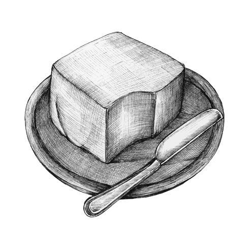 Manteiga desenhados à mão