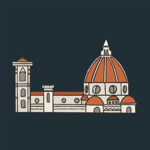 Florence Cathedral grafische afbeelding