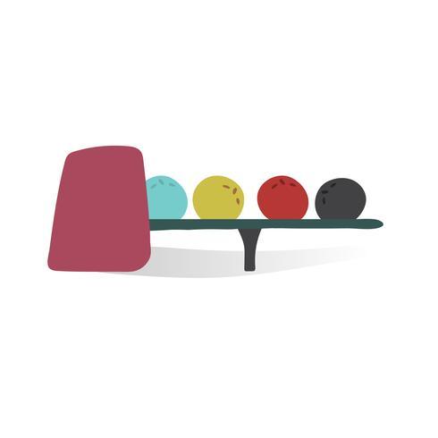 Ilustração, de, boliche, bolas