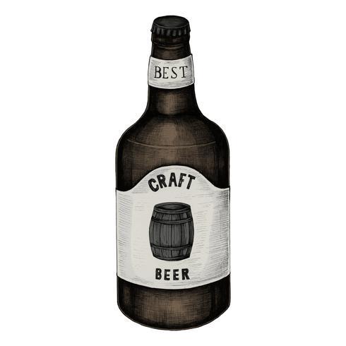 Ilustração de uma cerveja artesanal