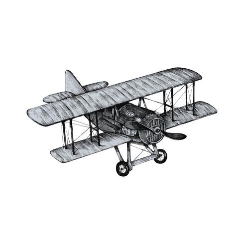 Avião antigo de mão desenhada