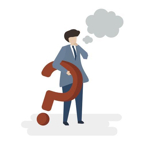 Illustration of people avatar customer service concept