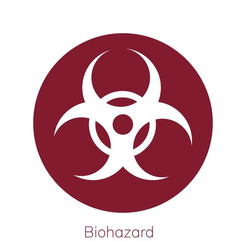 Illustration of biohazard warning sign