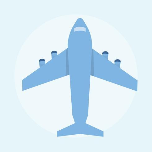Ilustración de un avión azul