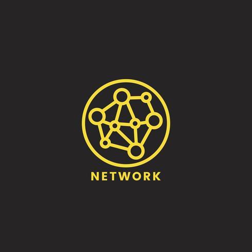 Ilustração gráfica de ícone de rede de computador