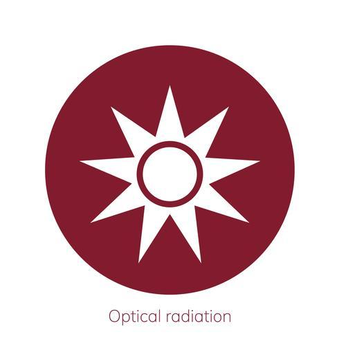 Illustration of optical radiation caution sign