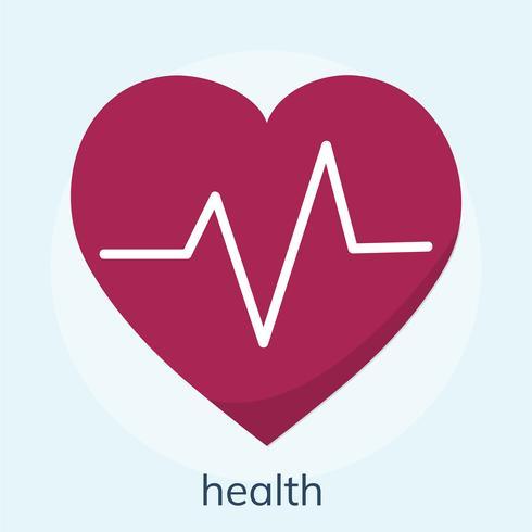 Illustration av ett hälsovårdshjärta