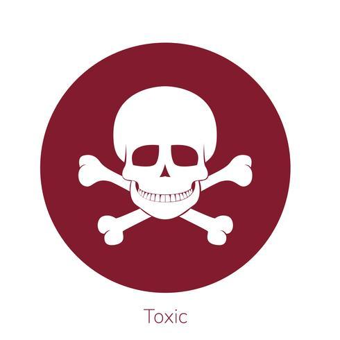Illustratie van giftigheidswaarschuwingsbord