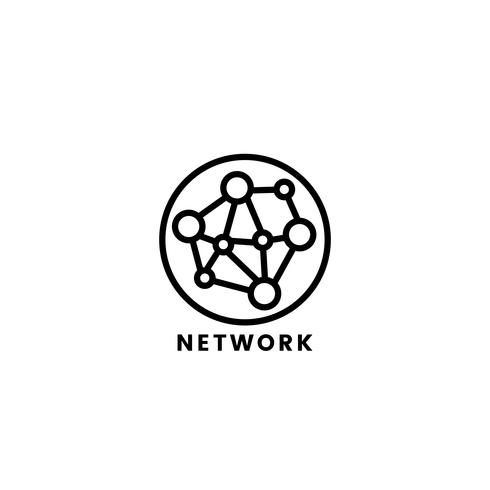 Illustration graphique d'icône réseau informatique