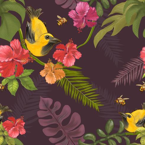 Illustration of birds in the wild