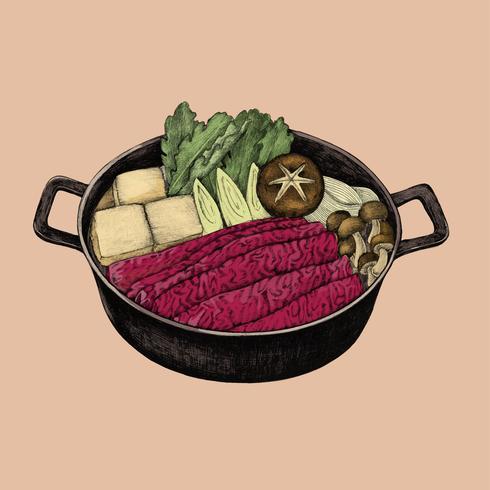 Illustrazione di cibo giapponese