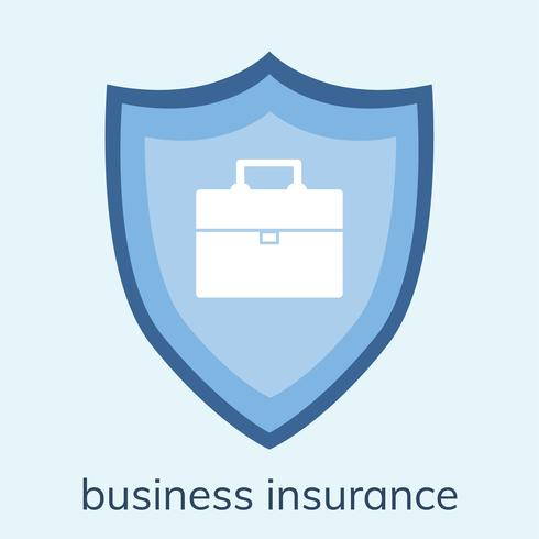 Illustration a business insurance icon